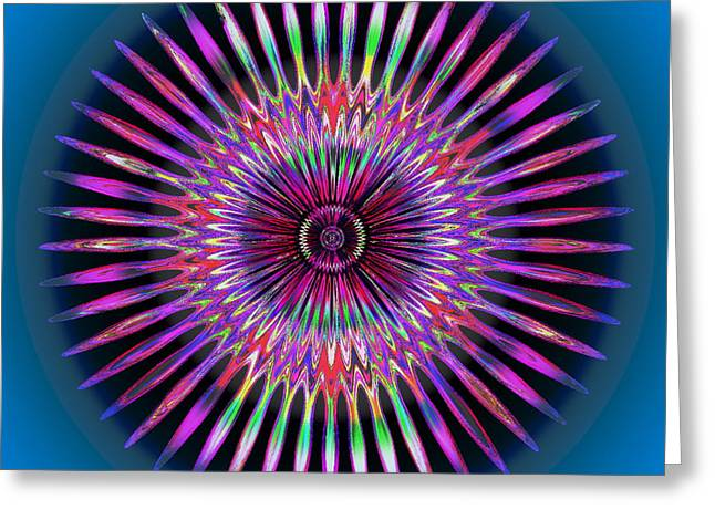 21st Greeting Cards - Rainbow Flower Greeting Card by Visual Artist  Frank Bonilla