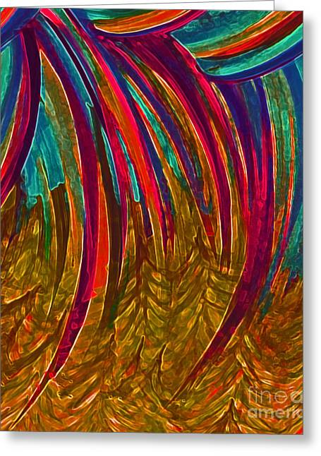 First Star Art Mixed Media Greeting Cards - Rainbow Gold by jrr Greeting Card by First Star Art