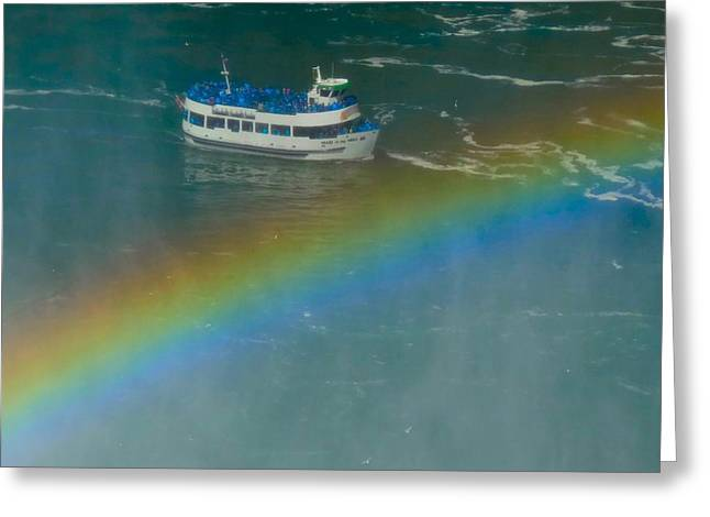 Blue Green Water Digital Greeting Cards - Rainbow Greeting Card by Gothicolors Donna Snyder