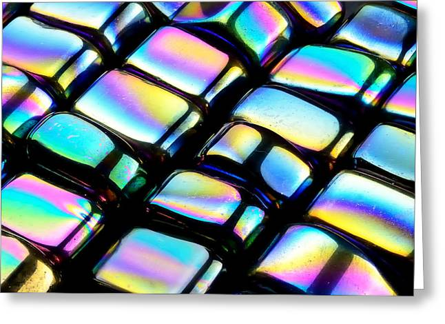 Iridescence Greeting Cards - Rainbow Hematite Greeting Card by Jim Hughes