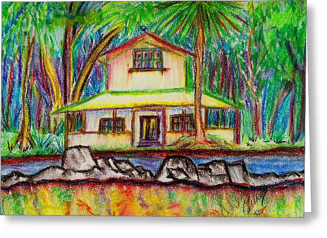 Pyrography Greeting Cards - Rainbow House Greeting Card by W Gilroy