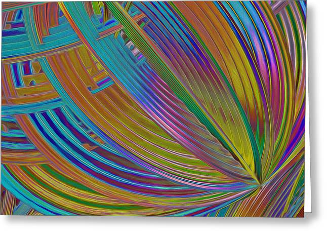 Generative Abstract Greeting Cards - Rainbow Hues Abstract Greeting Card by Deborah Benoit