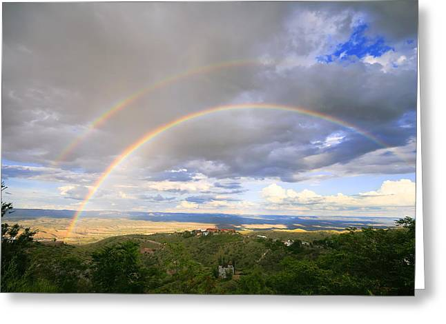 Full Spectrum Greeting Cards - Rainbow in Jerome Greeting Card by Alexey Stiop
