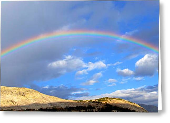 Double Rainbow Digital Art Greeting Cards - Rainbow in the Cirque  Greeting Card by Cory  Lamblin