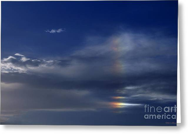 Amanda Collins Greeting Cards - Rainbow in the Clouds Greeting Card by Amanda Collins
