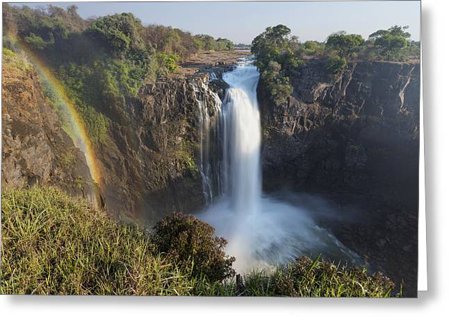 Rainbow In The Mist Of Victoria Falls Greeting Card by Vincent Grafhorst