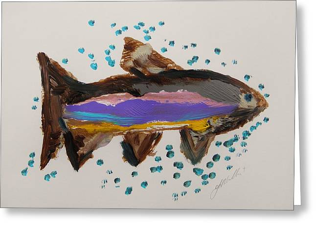 Rainbow Trout Greeting Cards - Rainbow Greeting Card by John  Williams
