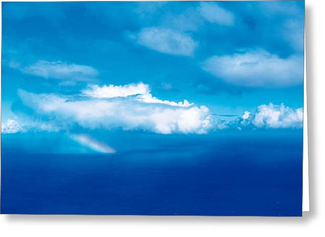 Cloud Formations. Cloud Photography Greeting Cards - Rainbow Kauai Hi Usa Greeting Card by Panoramic Images