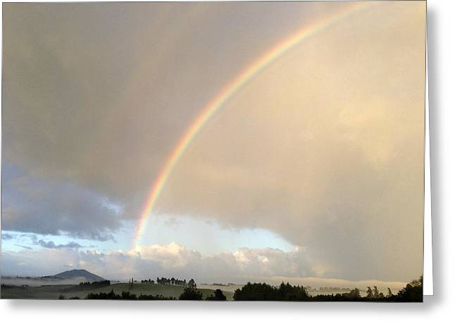 Beautiful Scenery Greeting Cards - Rainbow  Greeting Card by Les Cunliffe