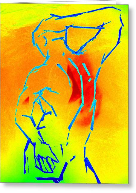 Figure Drawing Digital Art Greeting Cards - Rainbow Man Greeting Card by Randall Weidner