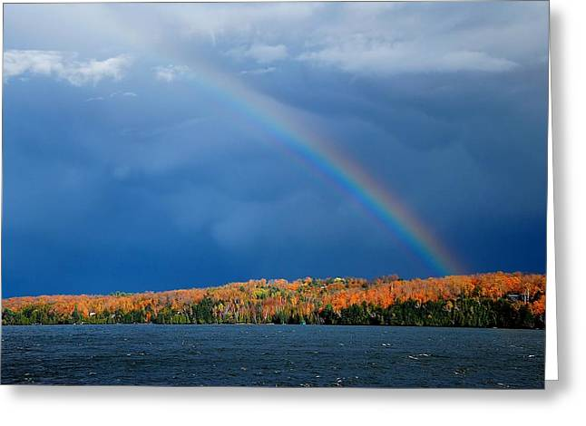Temperature Greeting Cards - Rainbow Greeting Card by Nathalie Duhaime
