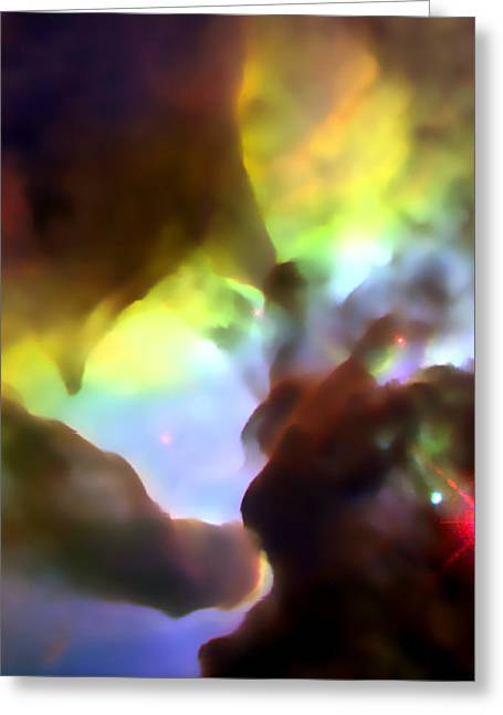 Gazer Greeting Cards - Rainbow Nebula Cloud Greeting Card by The  Vault - Jennifer Rondinelli Reilly
