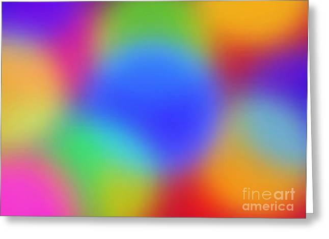Rainbow Of Colors Greeting Card by Gayle Price Thomas
