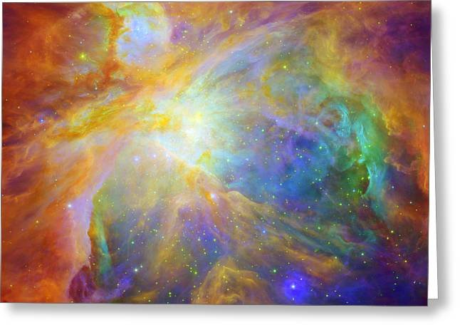 Neutron Greeting Cards - Rainbow Orion Greeting Card by Nomad Art And  Design