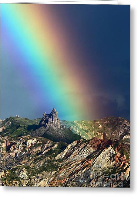La Paz Greeting Cards - Rainbow Over La Muela del Diablo Greeting Card by James Brunker