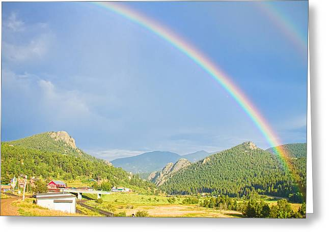 Storm Prints Photographs Greeting Cards - Rainbow Over Rollinsville Greeting Card by James BO  Insogna