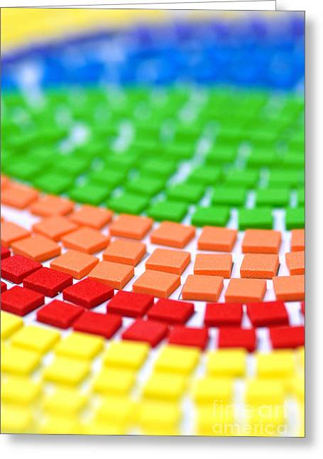 Rows Greeting Cards - Rainbow Pattern Greeting Card by Amy Cicconi