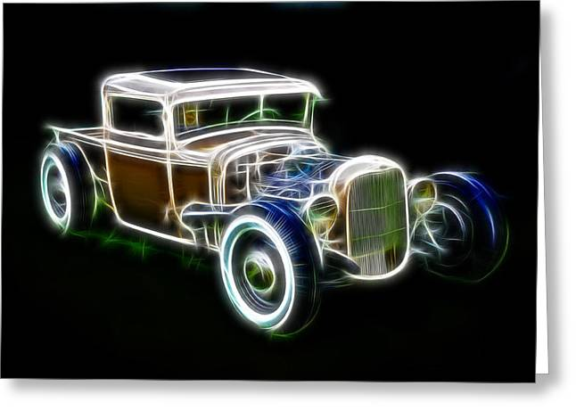 1950 Merc Greeting Cards - Rainbow Pickup Greeting Card by Steve McKinzie