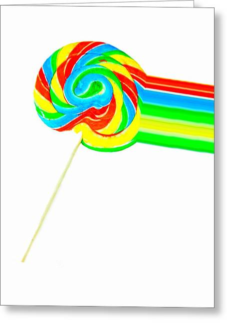 Flavorful Greeting Cards - Rainbow Pop Greeting Card by Diana Angstadt