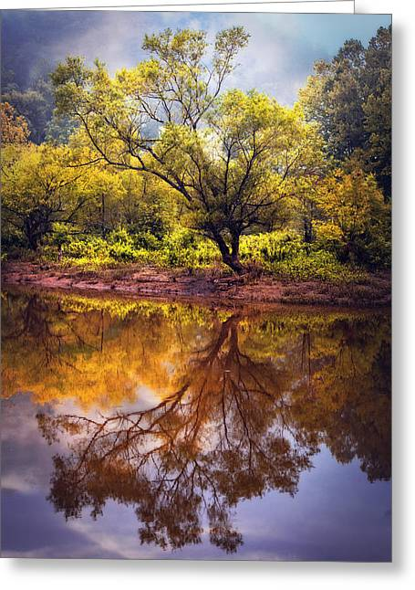 Tennessee River Greeting Cards - Rainbow River Greeting Card by Debra and Dave Vanderlaan