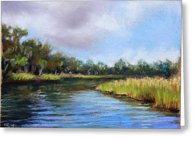 Brook Pastels Greeting Cards - Rainbow River Greeting Card by Susan Jenkins