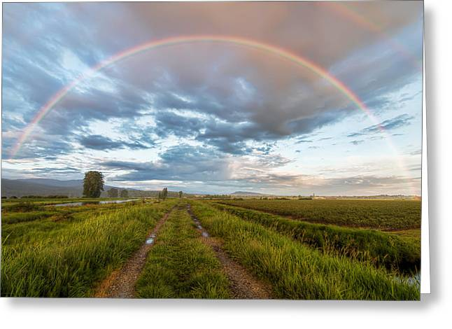 Double Rainbow Greeting Cards - Rainbow Road Greeting Card by James Wheeler