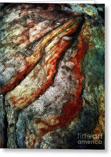 Striae Greeting Cards - Rainbow Rock Greeting Card by Mike Nellums