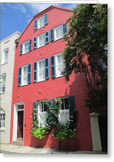 Rainbow Row Greeting Cards - Rainbow Row Charleston 4 Greeting Card by Randall Weidner