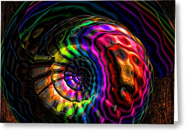 Rainbow Shell Greeting Card by Deborah Benoit