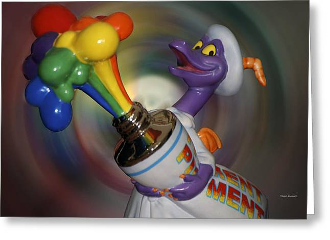 Epcot Center Greeting Cards - Rainbow Squirt Greeting Card by Thomas Woolworth