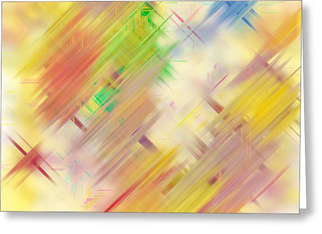 Twinkle Mixed Media Greeting Cards - Rainbow Stars Greeting Card by Linda Muir