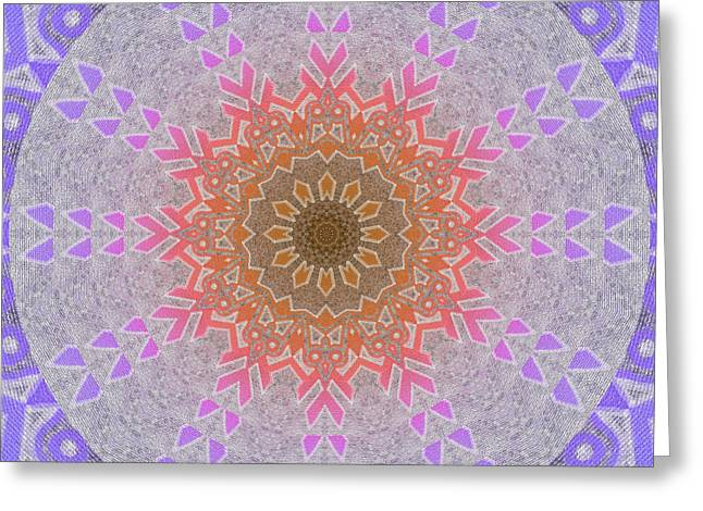 Chakra Rainbow Digital Greeting Cards - Rainbow Sun Flake Mandala Greeting Card by Miabella Mojica
