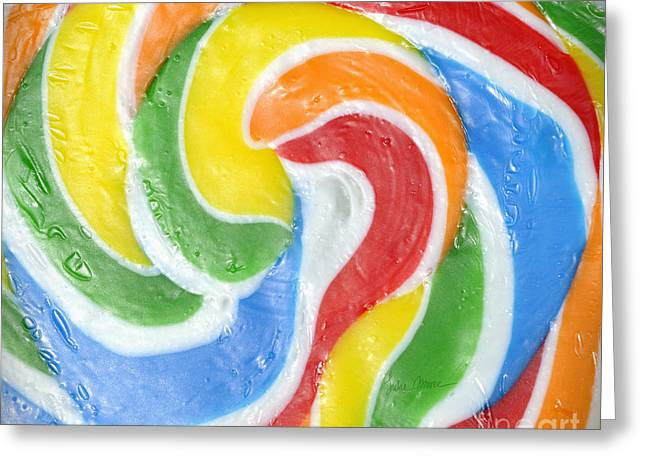 Rainbow Swirl Greeting Card by Luke Moore