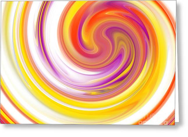Swirls And Stripes Greeting Cards - Rainbow Swirl Greeting Card by Stefano Senise