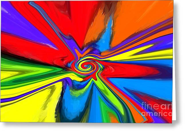 Warp Speed Greeting Cards - Rainbow Time Warp Greeting Card by Chris Butler