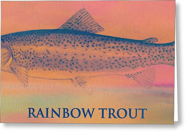 Trout Mixed Media Greeting Cards - Rainbow Trout Greeting Card by Dan Sproul