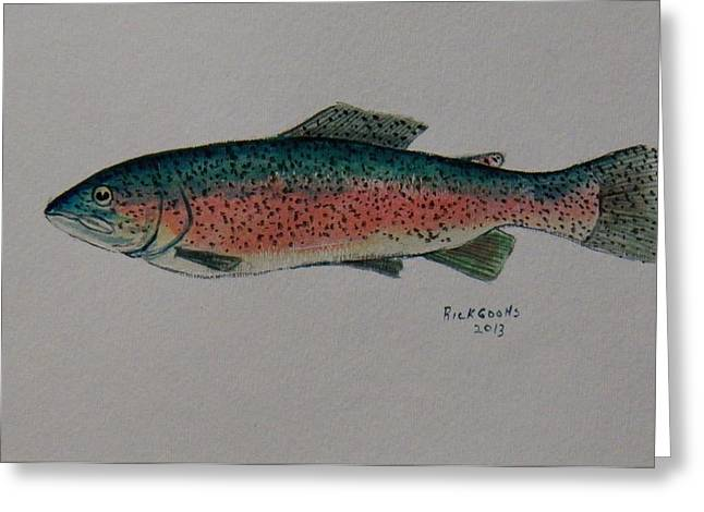Rainbow Trout Greeting Cards - Rainbow Trout Greeting Card by Richard Goohs