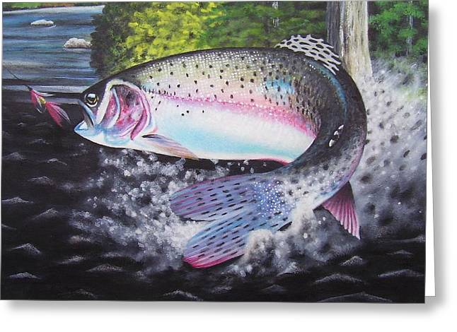 Rainbow Trout Greeting Cards - Rainbow Trout Greeting Card by Robert Aakre