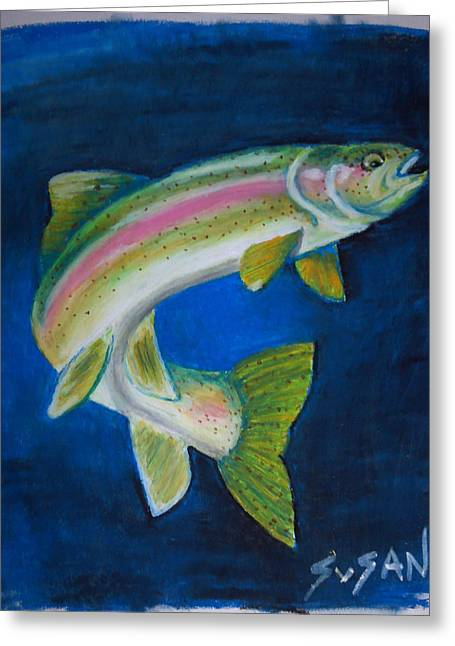 Rainbow Trout Greeting Cards - Rainbow Trout Greeting Card by Susan Kniffen