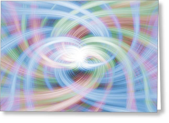 Warp Greeting Cards - Rainbow Vortex Greeting Card by Antony McAulay