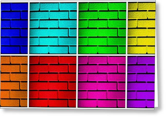 Geometric Effect Greeting Cards - Rainbow Walls Greeting Card by Semmick Photo