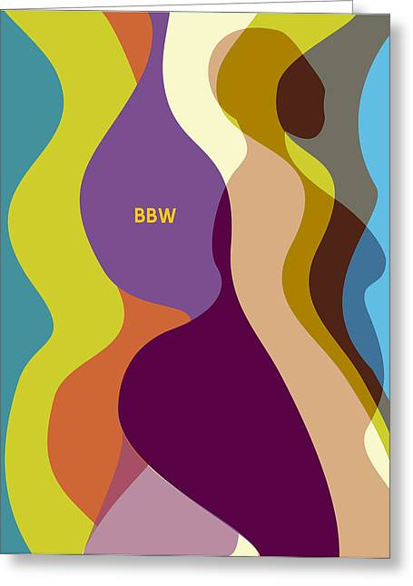 Recently Sold -  - Female Body Greeting Cards - RainbowBBW Greeting Card by David James