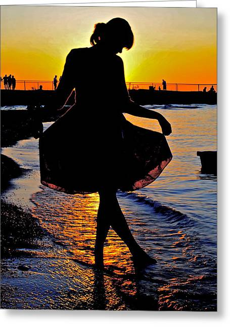 Family Love Greeting Cards - Daddys little Girl Greeting Card by Frozen in Time Fine Art Photography