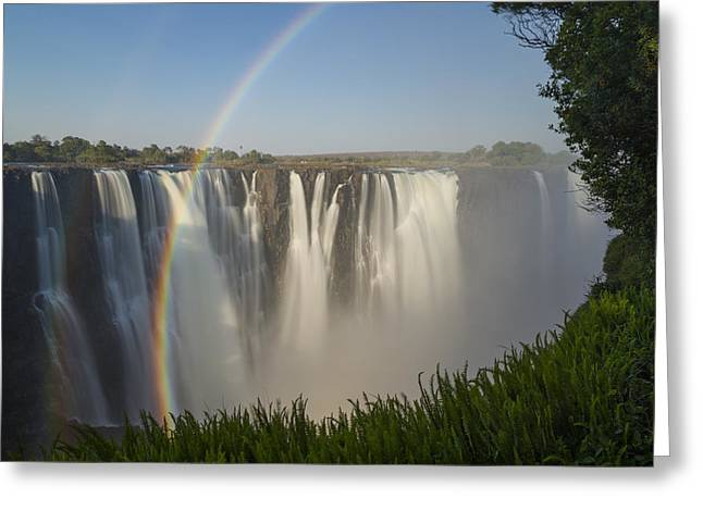 Rainbows In The Mist Of Victoria Falls Greeting Card by Vincent Grafhorst
