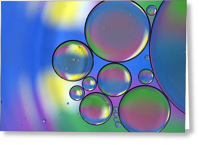 Blue Green Water Greeting Cards - Rainbows Lollipops And Greeting Card by Rebecca Cozart