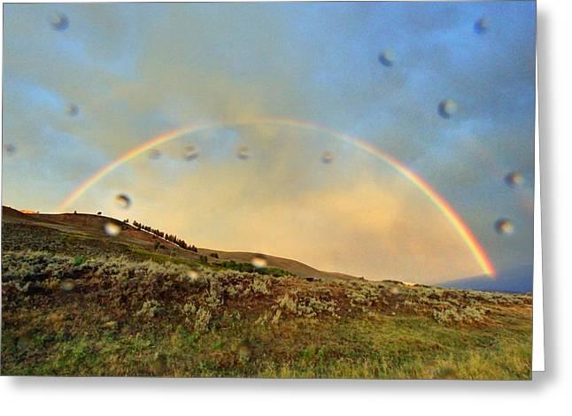 Raindrops Keep Falling On My Lens Greeting Card by Jackie Novak