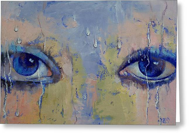 Les Greeting Cards - Raindrops Greeting Card by Michael Creese