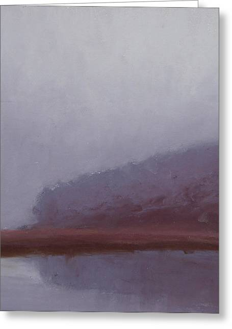 Cape Cod Pastels Greeting Cards - Rained In Greeting Card by Ed Chesnovitch