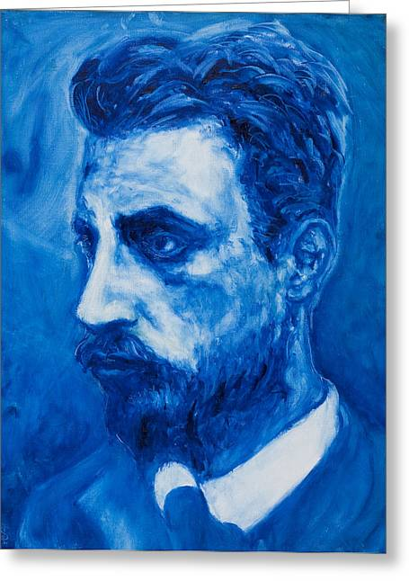 Self Discovery Paintings Greeting Cards - Rainer Maria Rilke Greeting Card by Sviatoslav Alexakhin