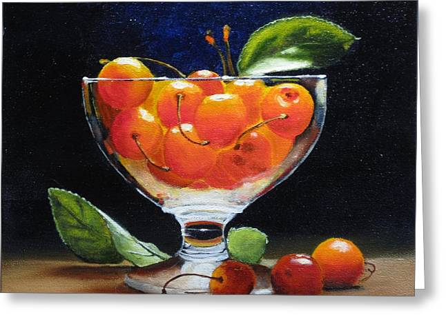 Rainers In Glass Greeting Card by Jan Brieger-Scranton